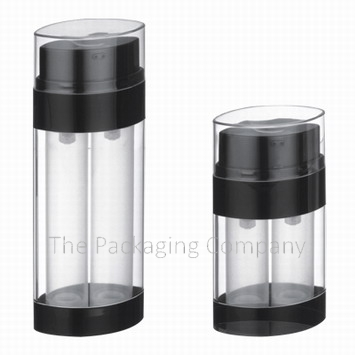 dual chamber airless bottle, customize dual chamber airless bottle
