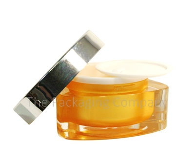 Triangle Shaped Jar; Custom Printing and Finish; 30 ml