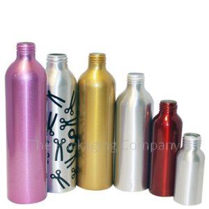round aluminum bottle