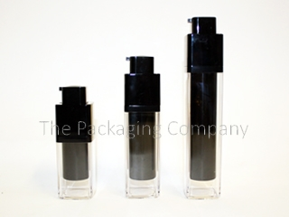 Double Wall Square Airless Bottles in three sizes