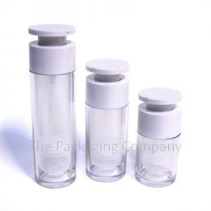Offset Cap Airless Bottle in 15, 30, & 50 ml