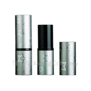 Aluminum Stars Lipstick Case Round Custom Printing and Color