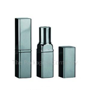 Square Aluminum Lipstick Tube; Custom Finish and Printing