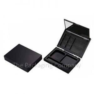 Rectangular Compact with hinge flip and mirror