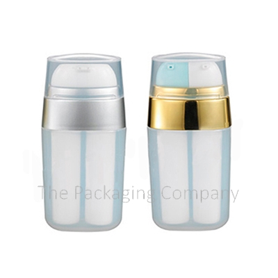 airless dual chamber bottle, dual airless dual chamber bottle