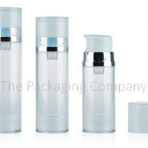Large dosage airless bottle; (50-150 ml); Custom Finish and Printing