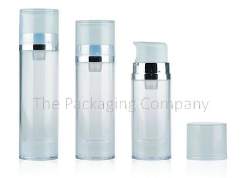 Large dosage airless bottle; (50-150 ml); Custom Finish and Printing
