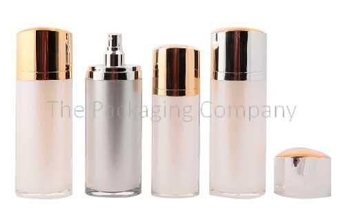 oval cosmetic bottle, high end cosmetic bottle, oval cream bottle, skincare bottle