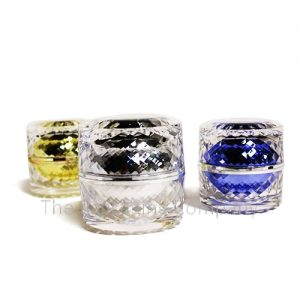 Acrylic Cosmetic Jars with Diamond Texture in 30 & 50 ml