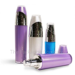 Acrylic cosmetic bottle, Dip tube pump acrylic bottle, Custom colour acrylic cosmetic bottle