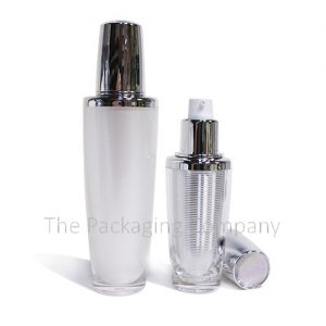custom design cosmetic dip tube bottle, silkscreen cosmetic dip tube bottle, double walled acrylic bottle allows