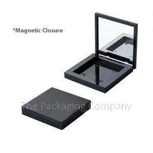 Compact Square Magnetic Closure custom design with PMS color, finish, & printing (silkscreen, hot stamp)