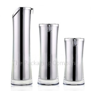 Curved body airless bottles sleek airless pump bottles