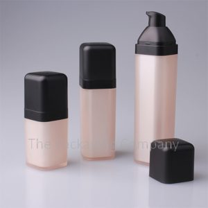 Airless Bottles Square Sloped Collar (15, 30, & 50 ml); Custom Finish and Printing