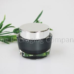 Tapered Cosmetic Jar (15, 30, & 50 ml); Custom Printing and Finish