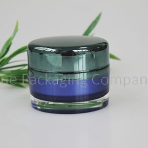 Oval Acrylic Jar (30 & 50 ml); with custom printing and finish