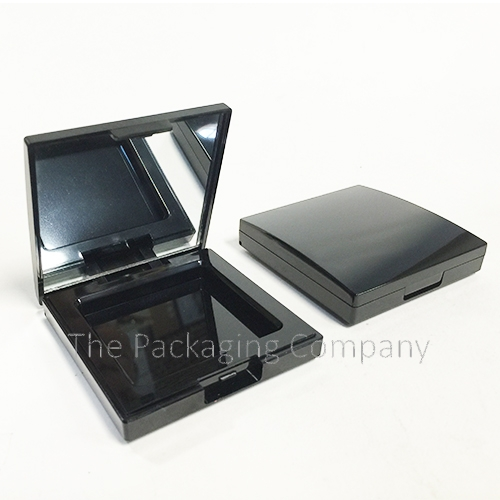 Square Compact Mirror Plastic custom design with PMS color, finish, & printing (silkscreen, hot stamp)