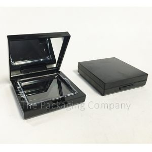 Compact Mirror Clear Lid custom design with PMS color, finish, & printing (silkscreen, hot stamp)