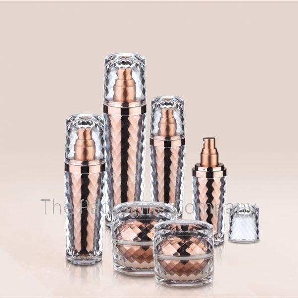 Textured acrylic double walled bottle (15-120 ml)