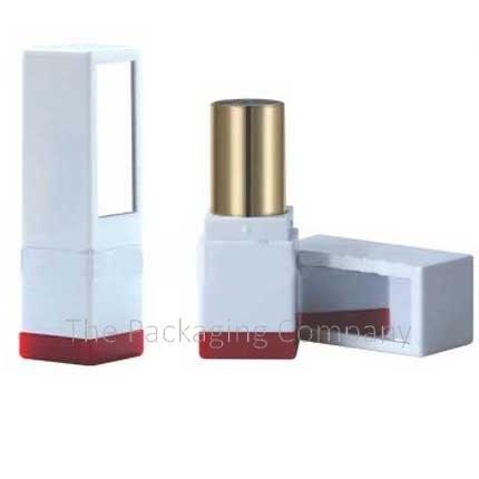 plastic lip stick case Custom Finish and Design