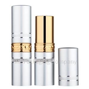 Aluminum lipstick case with ring design