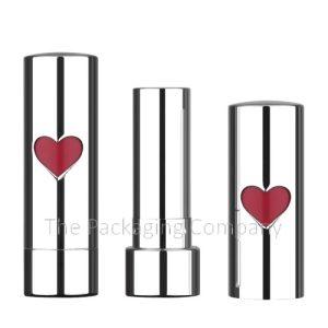 aluminum lipstick case with heart