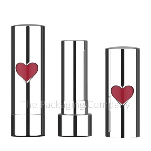 aluminum lipstick case with heart