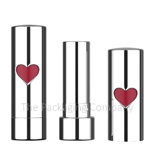aluminum lipstick heart case Custom Finish and Design