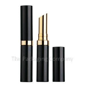 Slim aluminum lipstick case with band