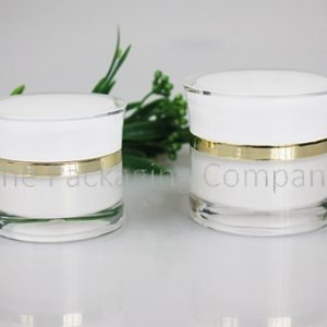 Cosmetic Jars Curved Body (30 & 50 ml); with Custom Printing and FInish