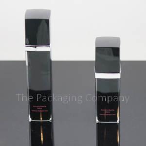 square airless pump bottles in two sizes