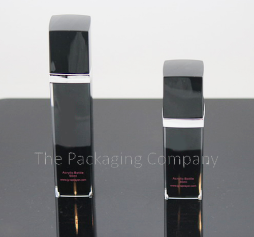 Airless Pump Square Bottles (15, 30, & 50 ml); with Custom Printing and Finish
