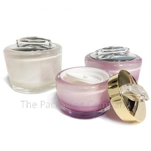 Decorative Acrylic Jar with Cap Handle; Custom printing and finish; 15-30 ml capacity