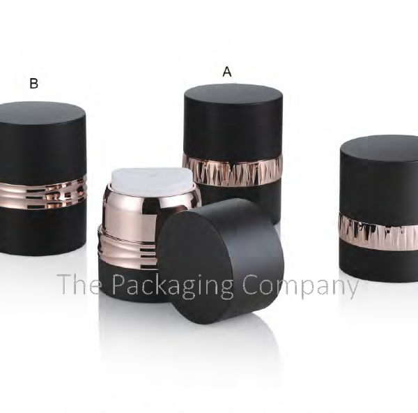 Decorative Airless jar with band decoration