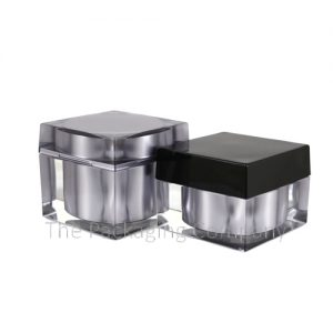 Square Cosmetic Jars in 30 and 50 ml