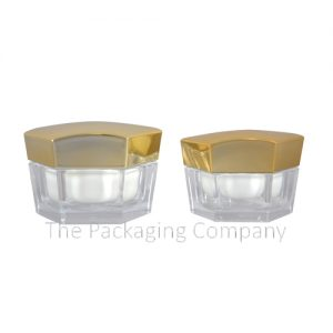 Hexagon Cosmetic Jars in 30 & 50 ml