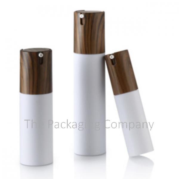 Faux Wood Airless Bottle Acrylic Cap-less Actuator (15, 30, 50 ml)
