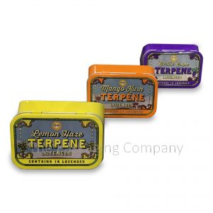 Three Rounded Rectangle Tin Containers 8 Color CYMK litho Printing & Silk Screen Printing