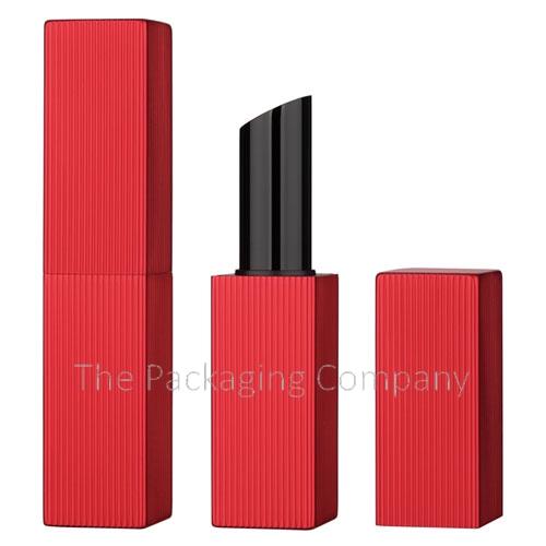 Square aluminum lipstick case with magnetic closure