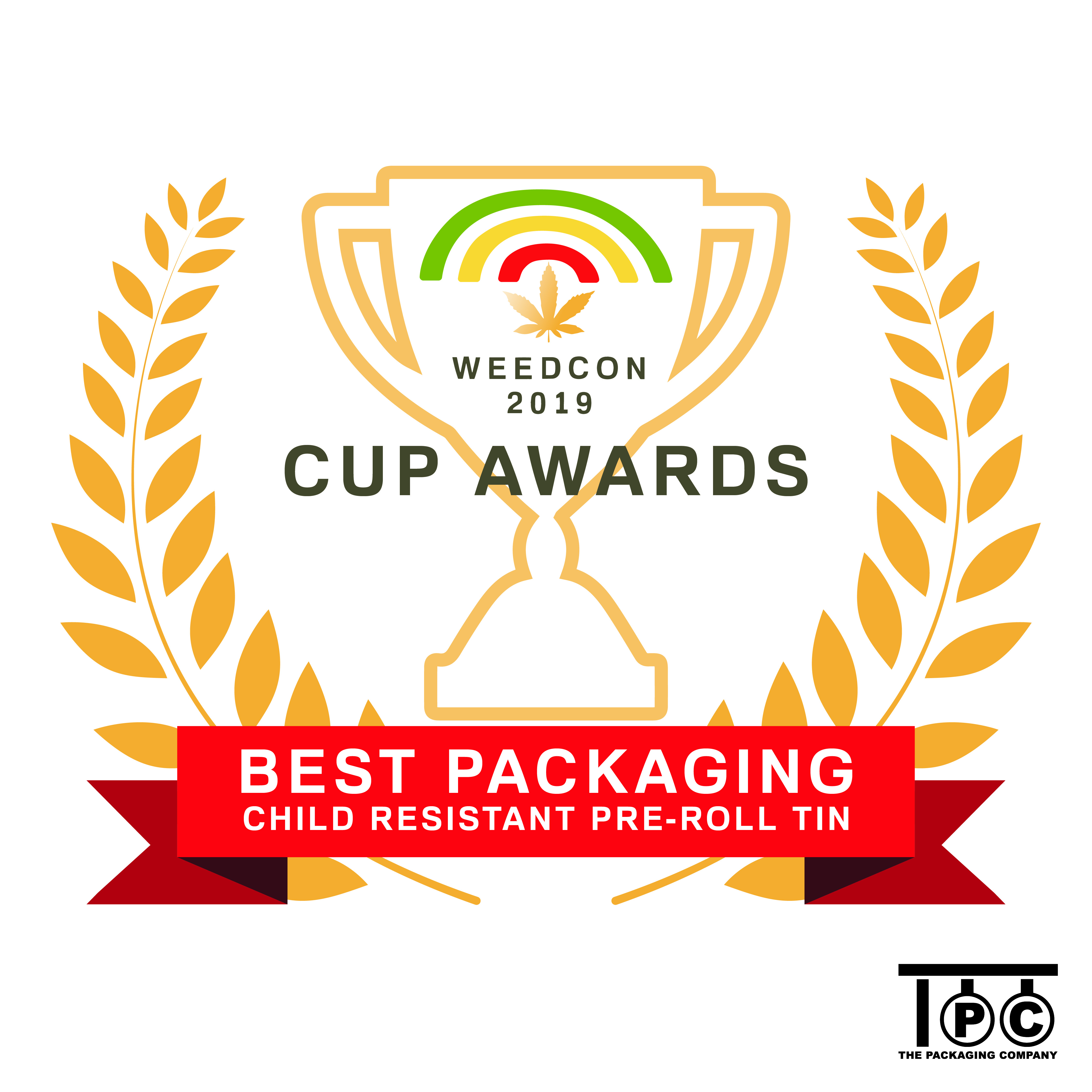 Best Packaging award for The Packaging Company by WeedCon West LA