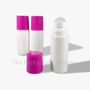 70 ml Magenta Roll On Bottle; with Custom Printing and Design available