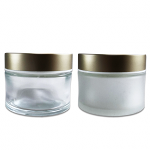 60 ml Child Resistant Glass Jar; Custom Printing and Finish Hot Stamp & Silk Screen Printing