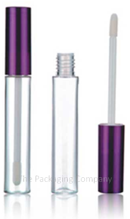 empty lip gloss container with purple cap