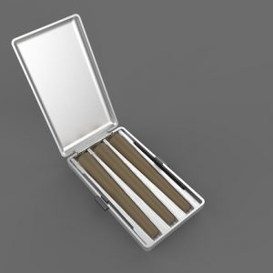 hild Resistant Pre-Rolls Tin Box; with Custom Printing, Wax Paper, and Finish