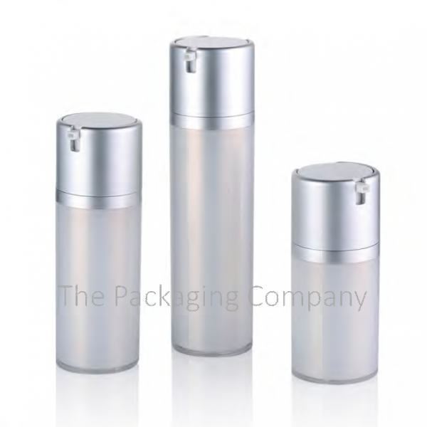 Airless Bottle Double Walled Cap-less Large Dosage (50, 80, 120 ml)