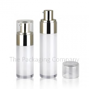 Luxurious Airless Pump Bottle (30 & 50 ml); with Custom Printing, Finish, and Color.