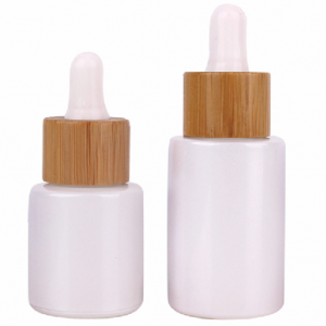 Glass Dropper Bottle Bamboo Collar; 40 and 80 ml