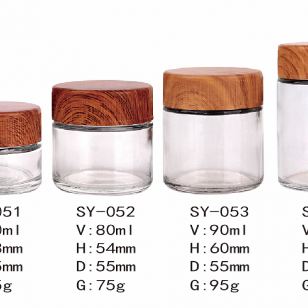 Child Resistant Glass jar 40 ml 80 ml 90 ml 110 ml Custom Hot Stamp & Silk Screen Printing