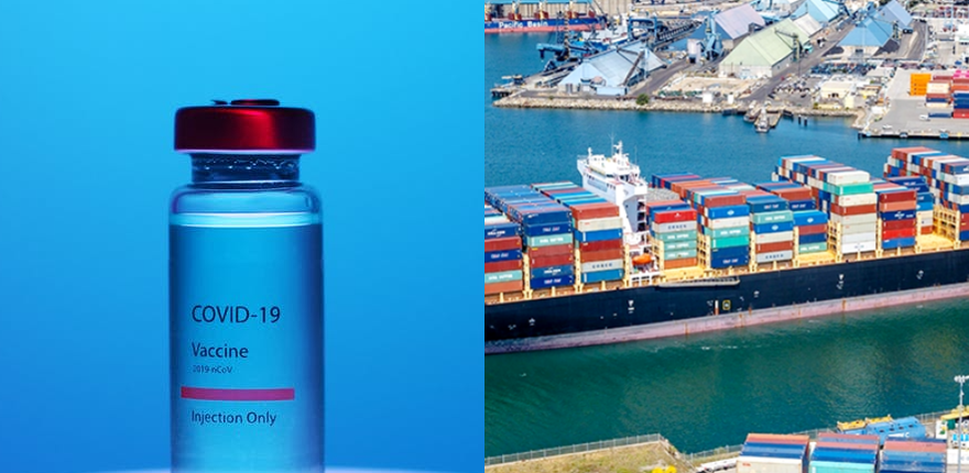 Photo of COVID Vaccine and Port Cargo